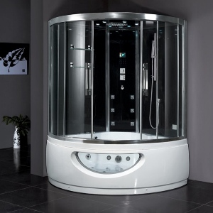 Ariel Steam Rooms 608 Steam Shower With Whirlpool Tub