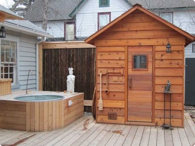 Cedarbrook Outdoor Sauna Kit